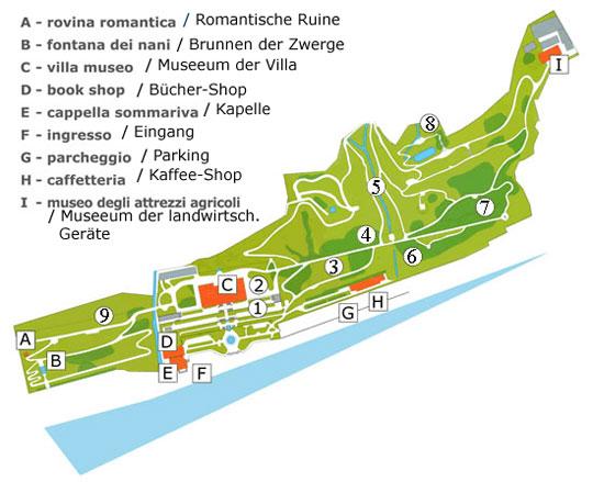 Villa Carlotta- Plan- Botanischer-Garten